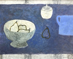 Pears and Blue Jug