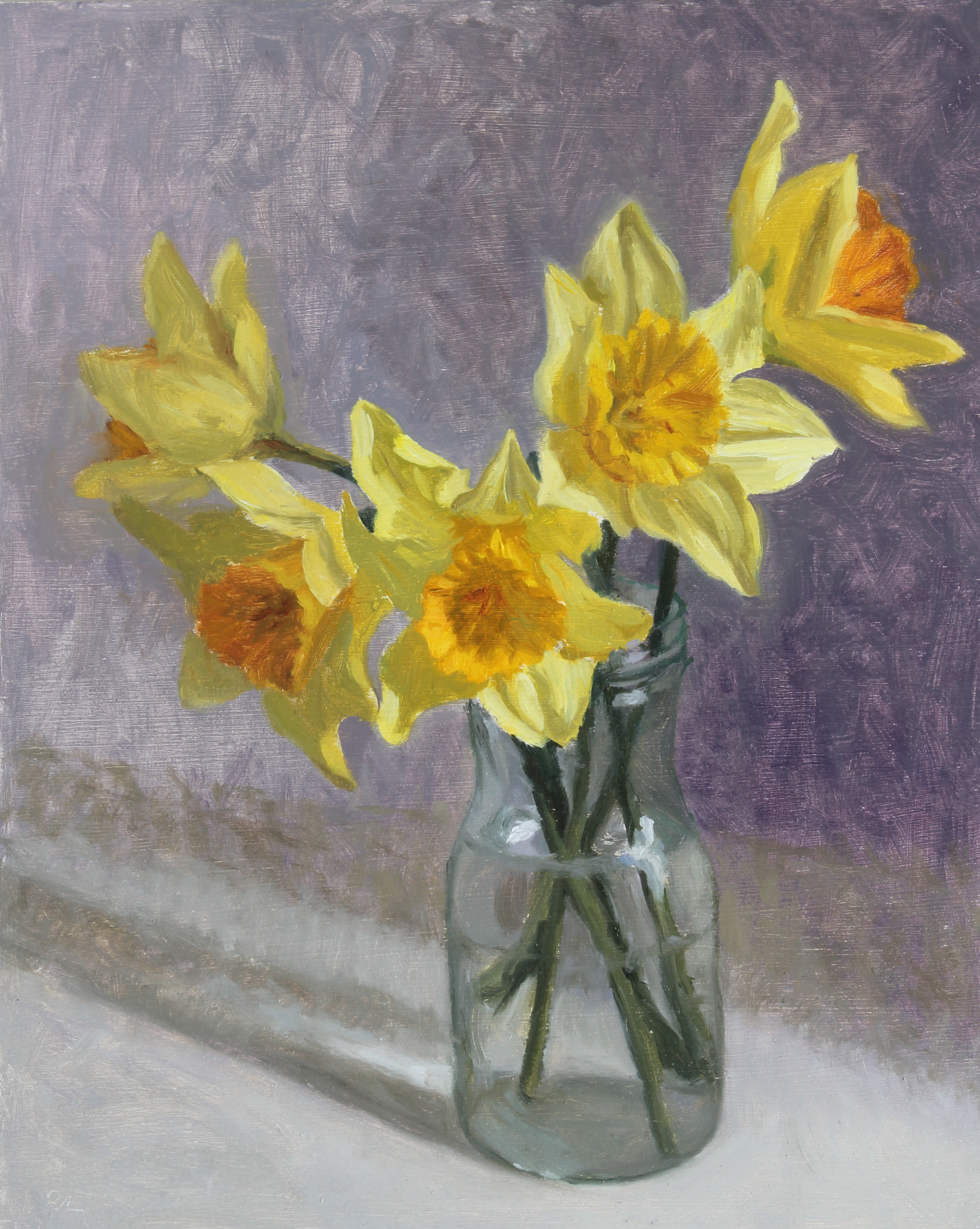 Daffodils in a Glass Jar I