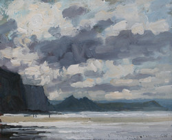 Sunshine and clouds, Watergate Bay