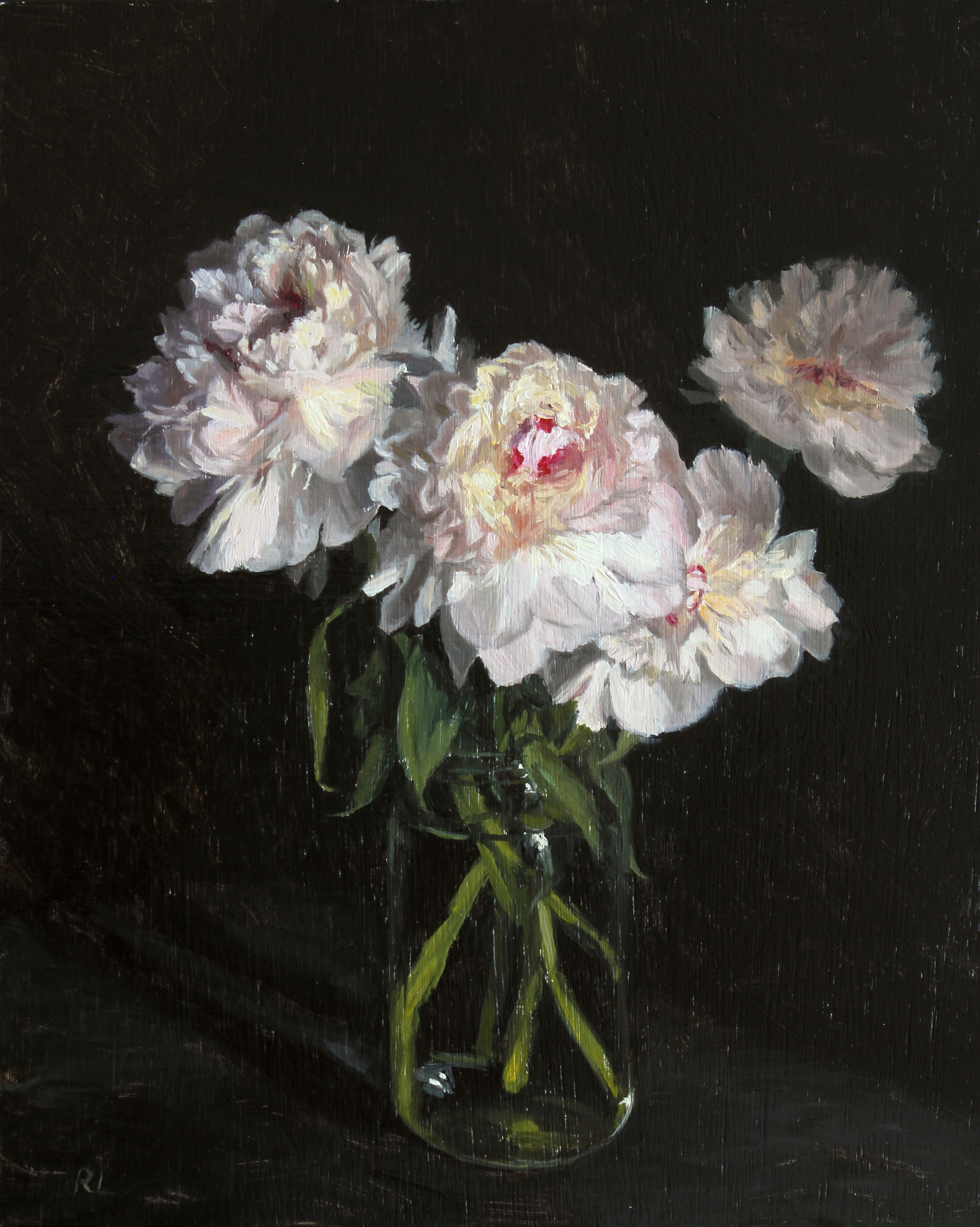 Peonies in a Glass Jar II