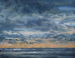Evening Light Over the Sea