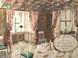 The Dining Room at The Wood House, Epping for Rod Stewart Esq., 1986