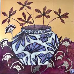 Maple Leaves and Wine Jar