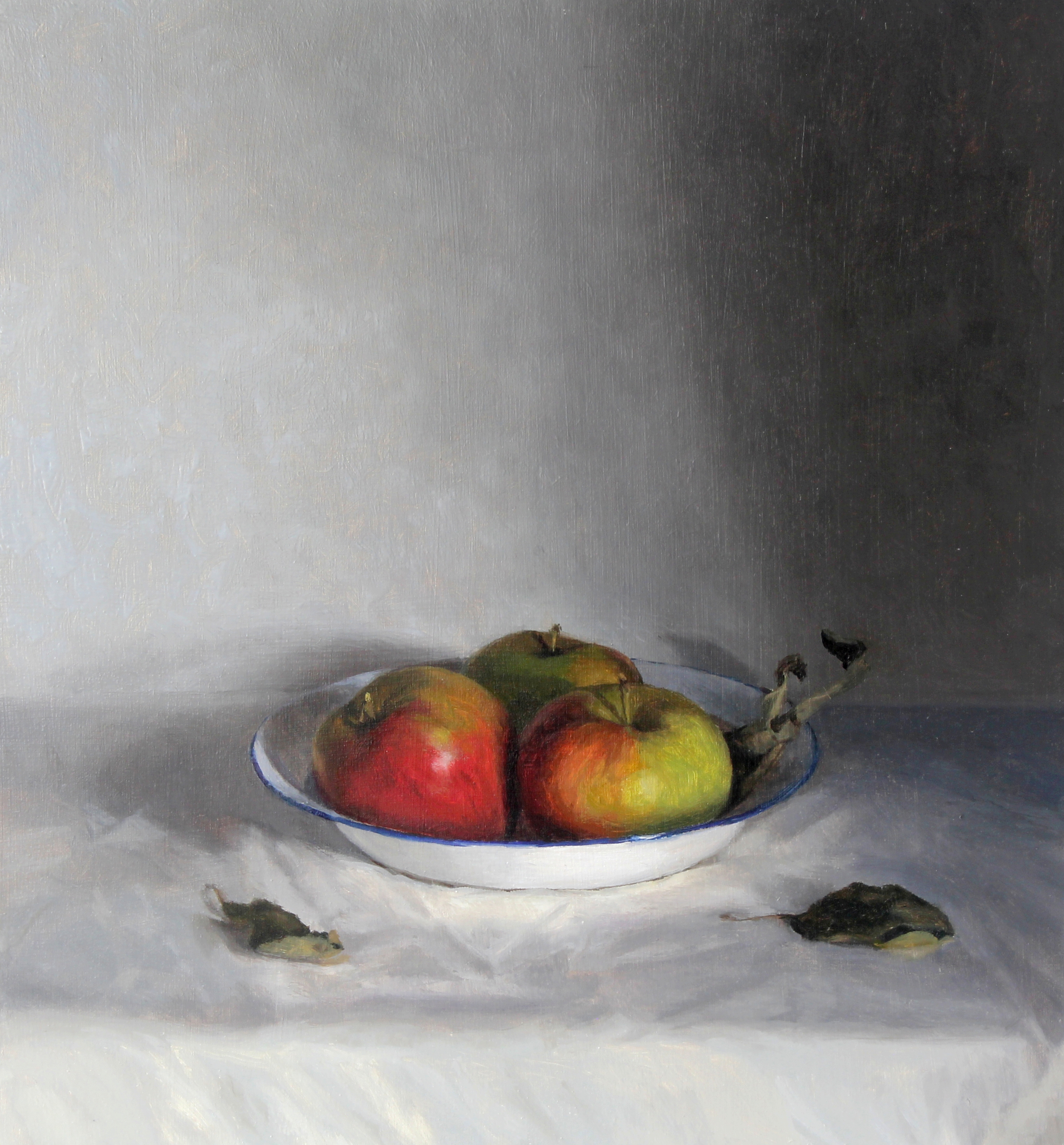 Apples in an Enamel Bowl