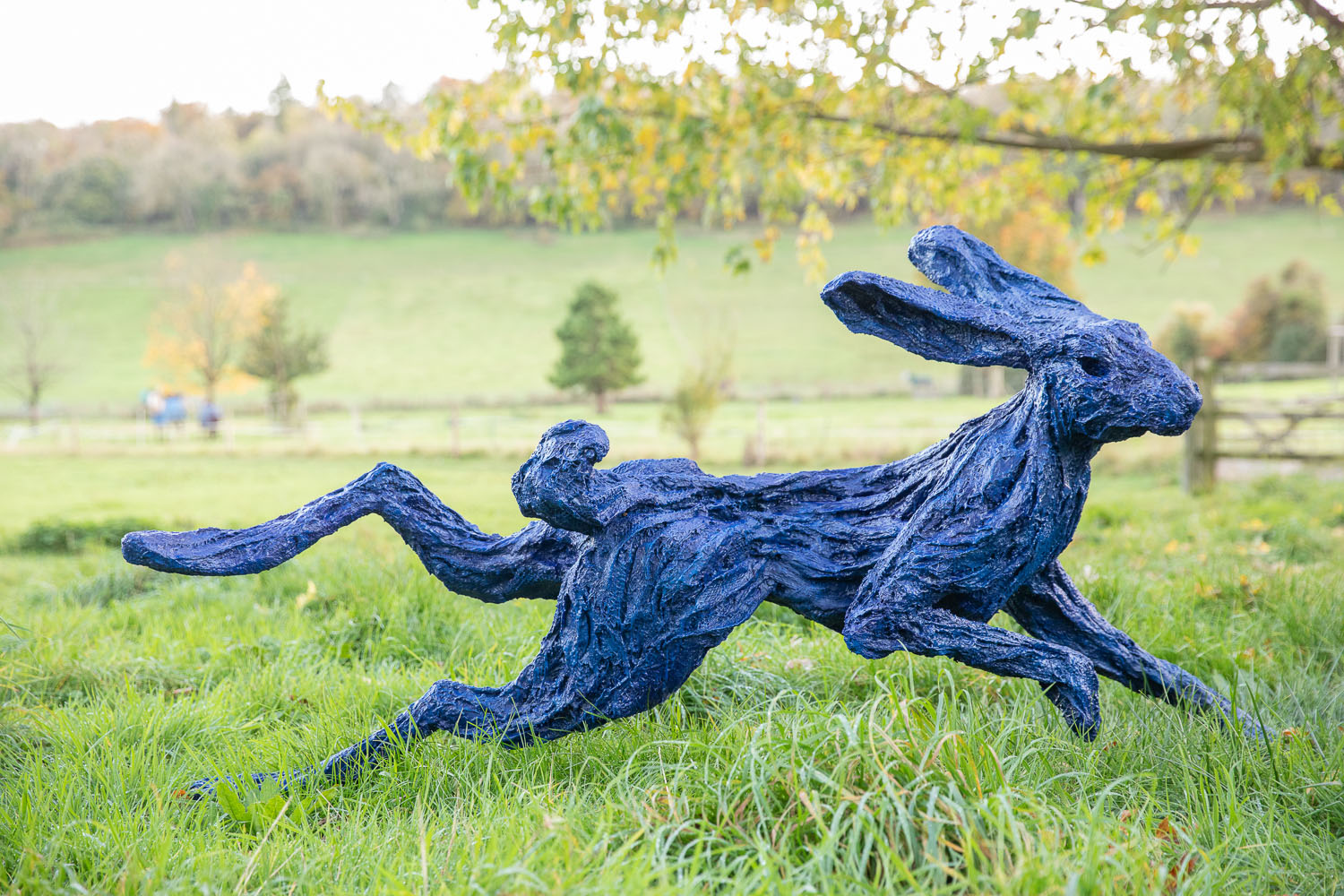 Electric Blue Hare, Running Garden Hare