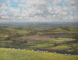 Sheep Grazing on Eggardon Hillfort