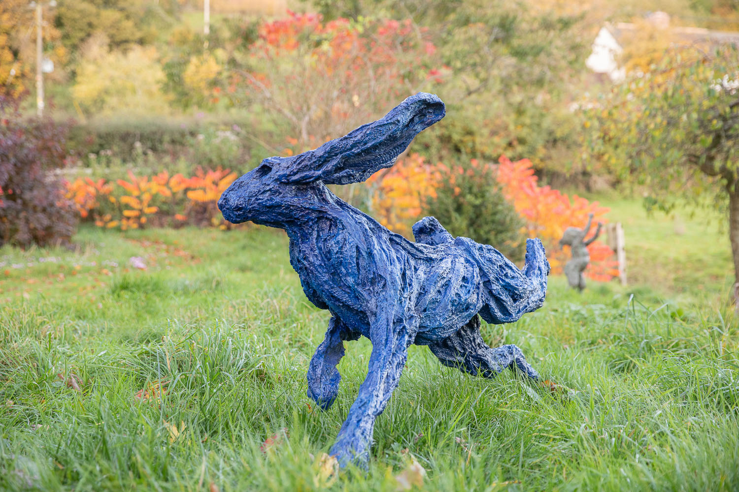 Electric Blue Hare, Running Garden Hare (side view)