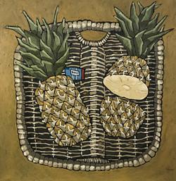 Pineapple in Basket