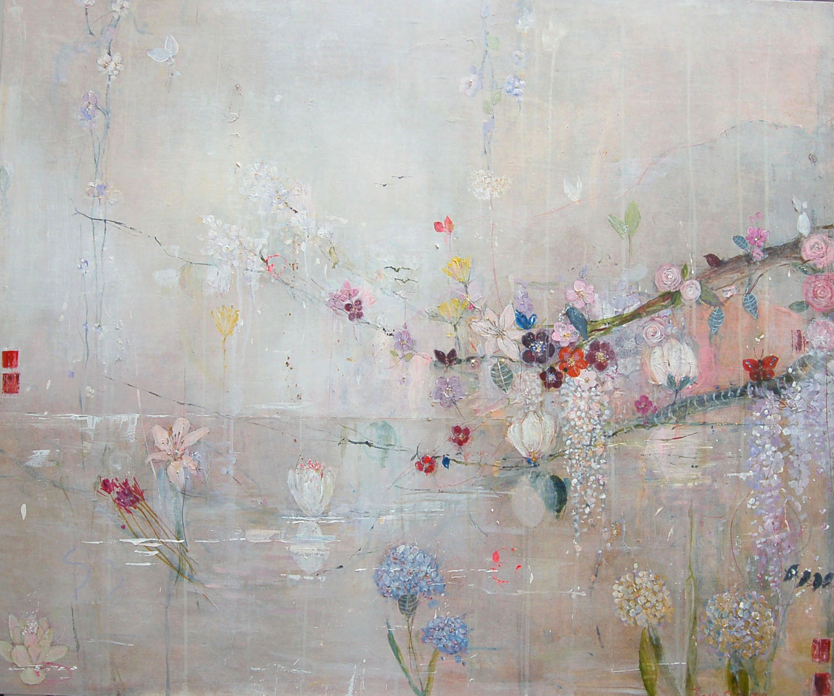 Hydrangea & Water Lily