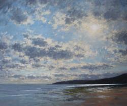 Sunlight Hitting the Sea, Charmouth