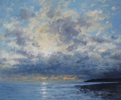 Sunlight through the clouds,Charmouth