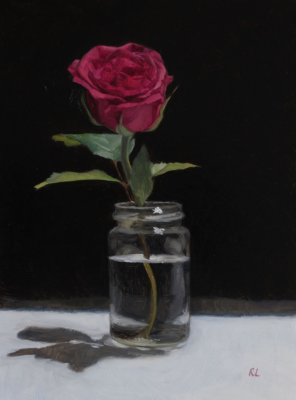 Red Rose in a Glass Jar