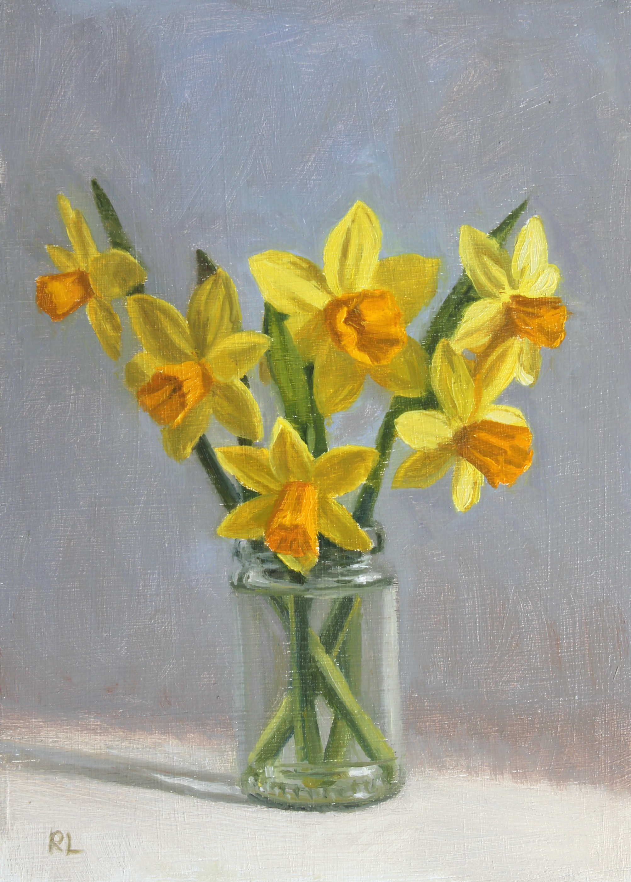 Daffodils in a Glass Jar III