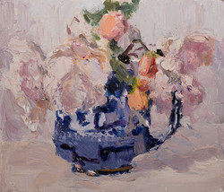Roses in a Chinese Willow Vase