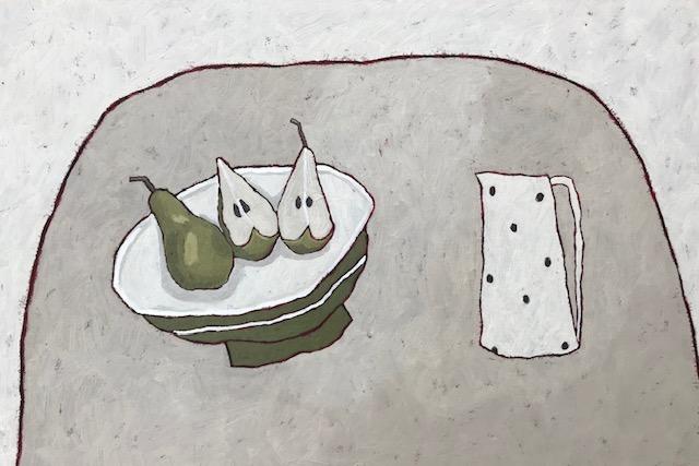 Pears and Polka Dot Jug