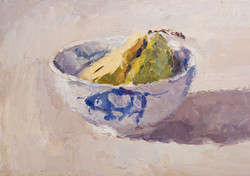 Pear Halves in a Bowl 3