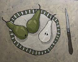 Pear and Knife