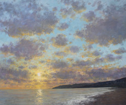 Yellow Sunset, Charmouth 122