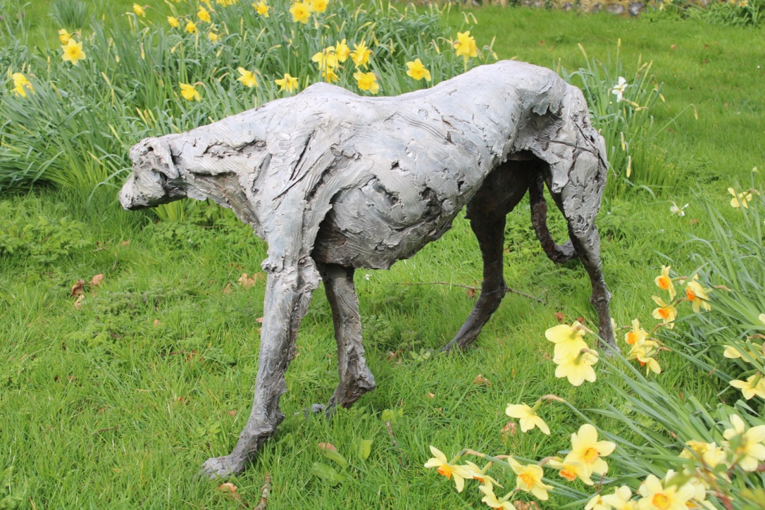 Gentle Thoughts, Standing Lurcher (side view)
