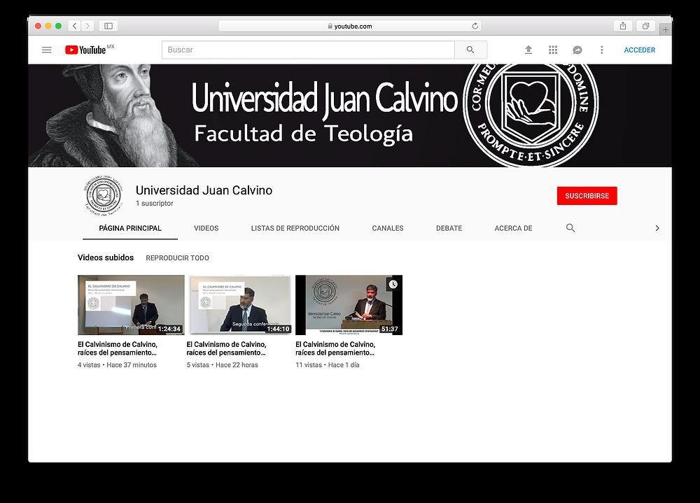 Canal Oficial de YouTube de la UJC