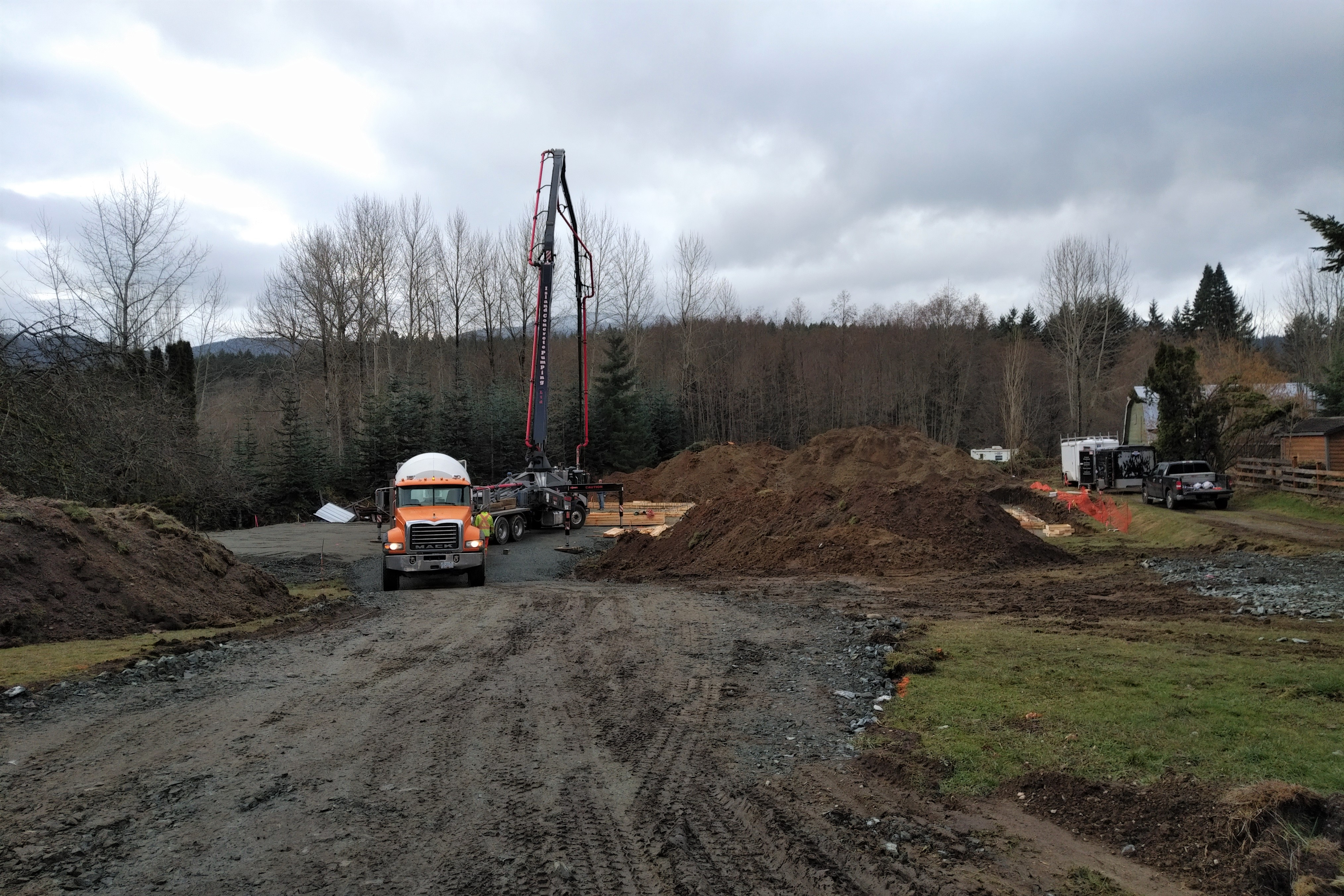 Emperor Homes Ltd.–Ladysmith Custom Home with Carriage House – Footings