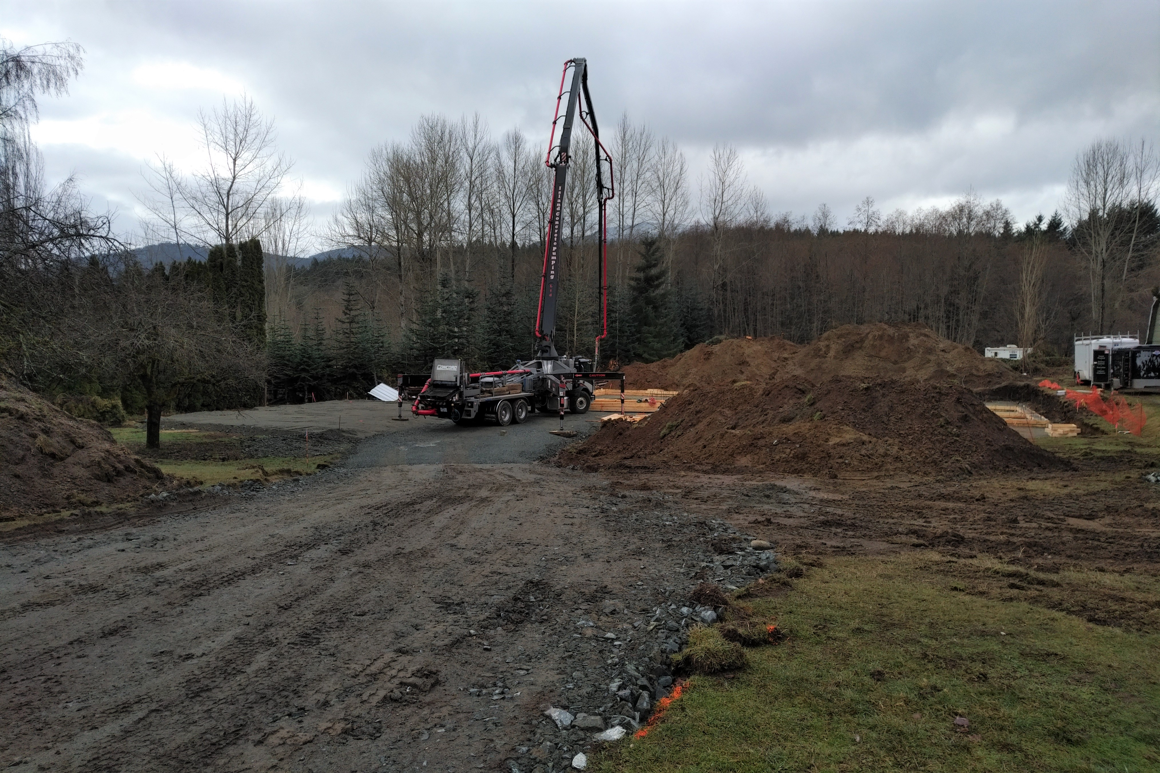 Emperor Homes Ltd. – Ladysmith Custom Home with Carriage House – Footings