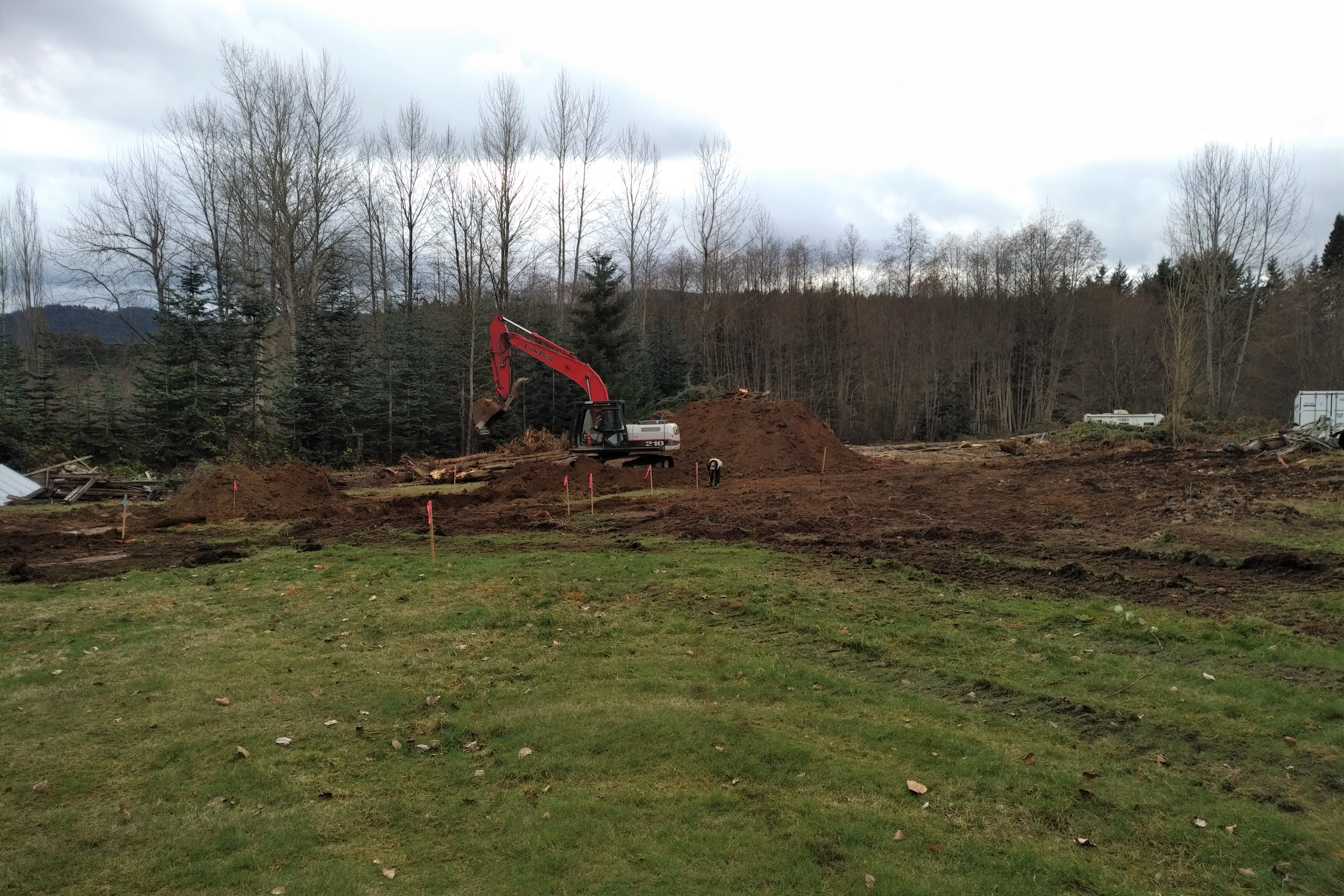 Emperor Homes Ltd. – Ladysmith Custom Home with Carriage House – Excavation