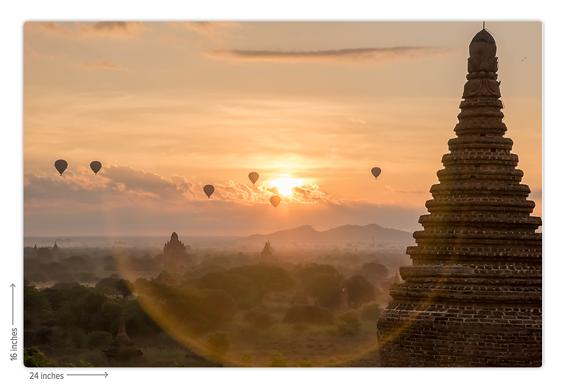 Waking up in Bagan