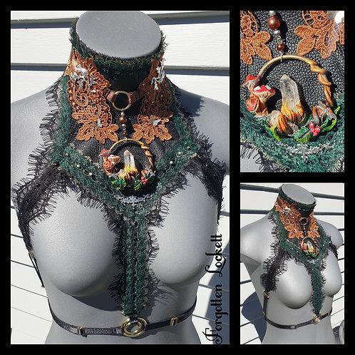 Fairy garden choker harness