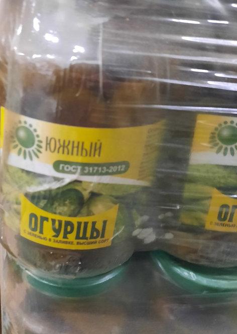 Огурцы с зеленью в заливке Южный ГОСТ 1 кг