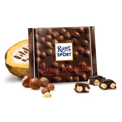 Шоколад Ritter Sport темный цельный орех 100 Гр