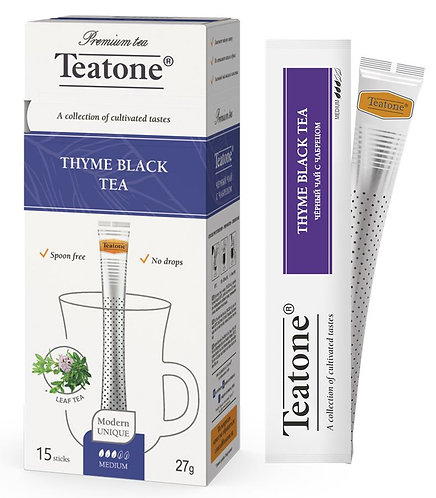 Чай черный с чабрецом Teatone в стиках 15 шт