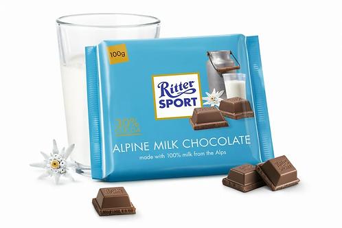 Шоколад Ritter Sport молочный Альпийское молоко 100 Гр