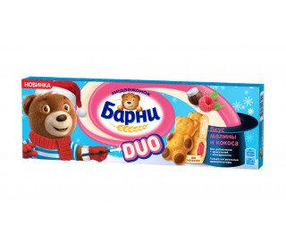 Пирожное бисквитное БАРНИ DUO Малина и Кокос 150 Гр