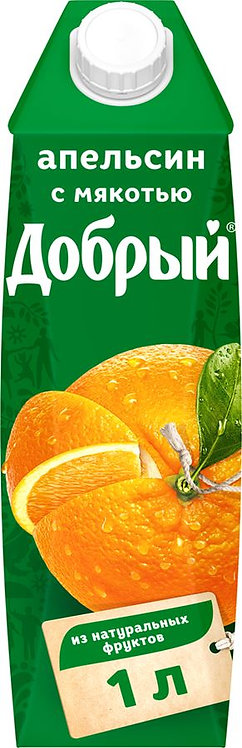 Нектар апельсиновый Добрый 1 л