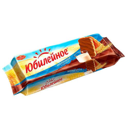 Печенье Юбилейное с молочным шоколадом 116 Гр