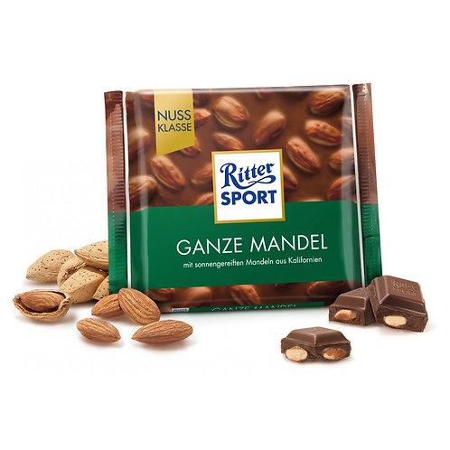 Шоколад Ritter Sport молочный цельный миндаль 100 Гр