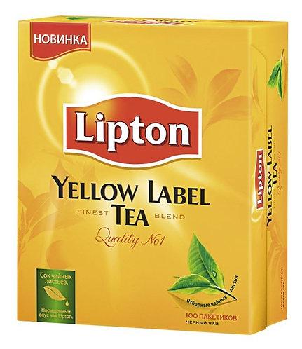 Чай черный Lipton Yellow Label 100 х 2 Гр