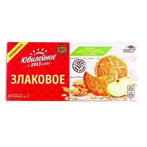Печенье Юбилейное злаковое яблоко 171 Гр