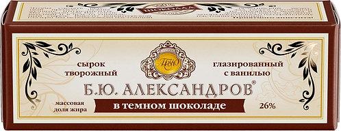 Глазированный сырок Б.Ю. Александров темный шоколад 26% 50 Гр