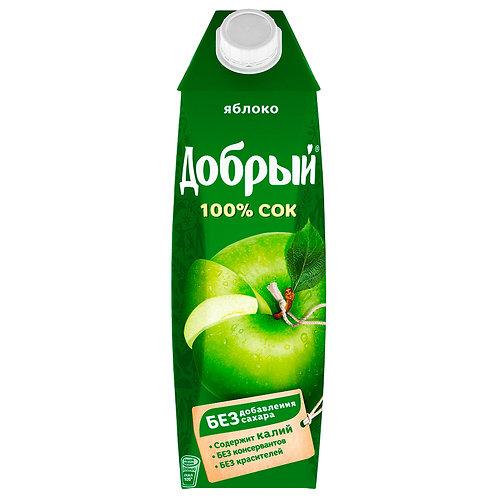 Сок яблочный Добрый 1 л