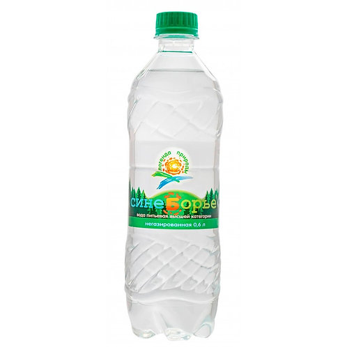 Вода без газа артезианская Синеборье 0.6 л