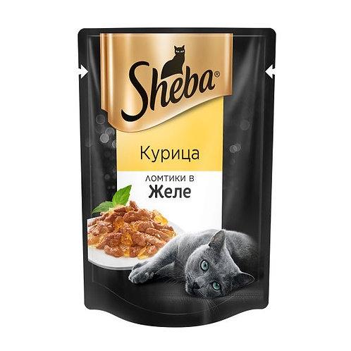 Влажный корм для кошек Sheba с курицей 85 Гр