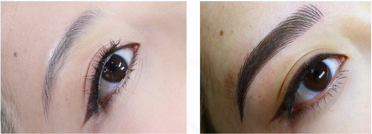 Photos taken from Permanent Beauty By Lili. (Nano shading course completed in Jan 2021).