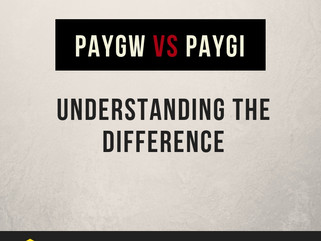 PAYGW vs PAYGI - Understanding the Difference