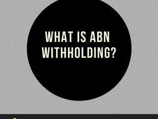 What is ABN withholding?