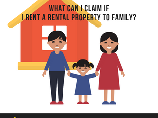 What can I claim if I rent a rental property to family?