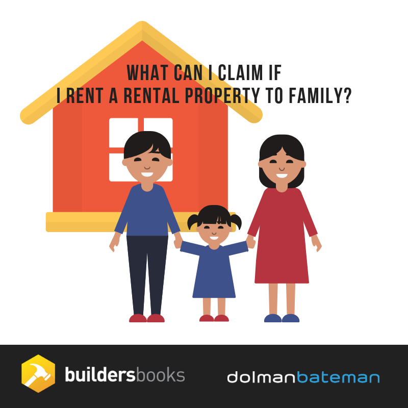 what can i claim if I rent a rental property to family