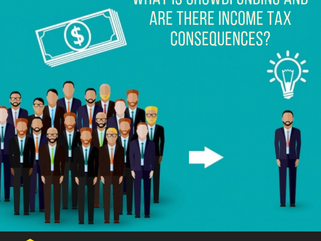What is crowdfunding and what are the income tax consequences?