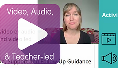 Video, Audio & Teacher-led Play Button
